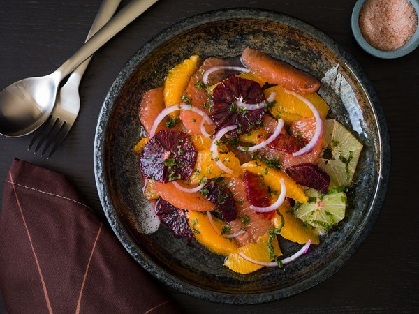 Food photography CitrusSalad 600x450 Citrus Salad with a Dash of Savory