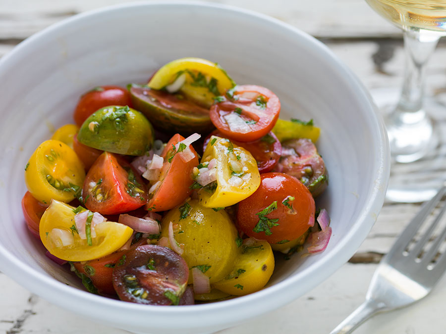 Recipe: Baby Heirloom Tomato Salad