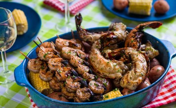 Grilled Shrimp and Lobster
